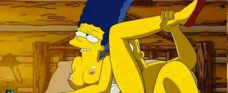 Homer ama golpeando marges apretado rosa