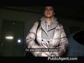 Publicagent increíble tetas rubias mamadas