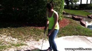 Golf babe pussy rammed
