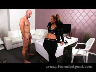 Femaleagent casting creampie para el agente sexy