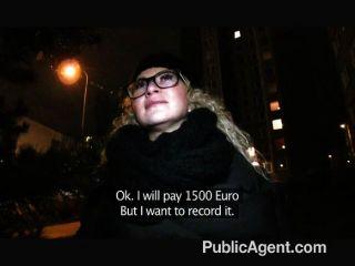 Publicagent sexy girl en gafas folladas