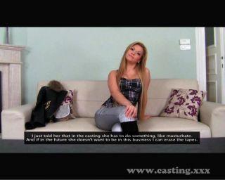 Ex escolta usando su trasero en el casting