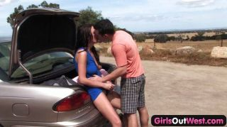 Las niñas fuera de Australia occidental pareja de sexo al aire libre