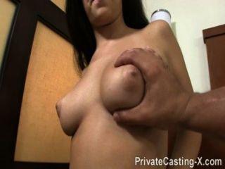 Casting privado x audición pagada con cumshot desordenado
