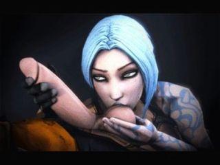 Videojuego compilación animada bioshock, borderlands, raider tumba, efecto masivo