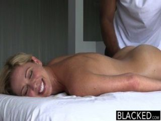 Blacked hot southern blonde toma polla grande negro