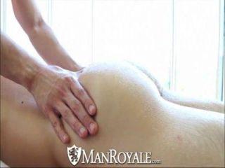 Manroyale lindo chico se masaje y jodido
