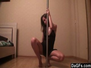 Sexy russian teen loves pole dancing