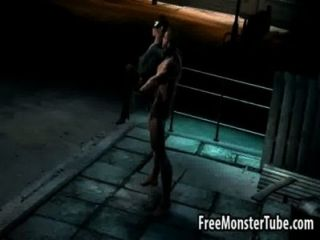 3d catwoman obtener follada duro por wolverine
