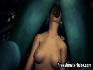 Blue haired 3d miel chupa y folla un monsternhostility alto 2