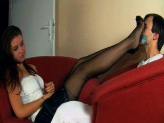 Adorando extremadamente hermosa patas joven señora