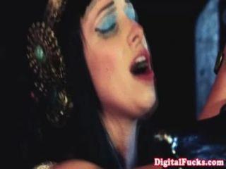 Princesa glamcore rociado con cum