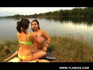 Lesbianas latinas en el lago