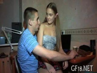 Su novia se perfora duro
