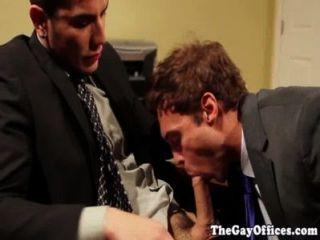 Caña rocco en una escena de la oficina fuck