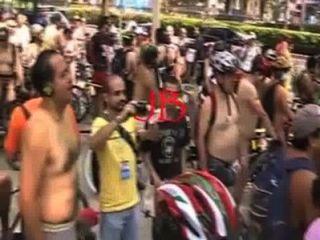 Ciclista desnudos en la ciudad méxico 2011