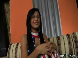 Tranny shemale big buty rammed with bbc