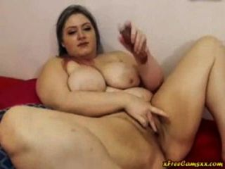 Chubby big tit curvy bbw folla su coño en webcam