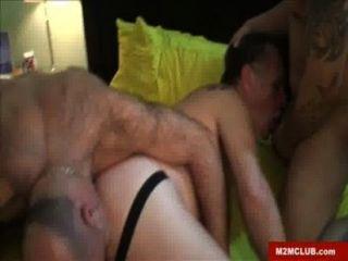 Gay gordo gangbanged crudo