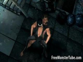 3d catwoman obtener follada al aire libre por wolverine