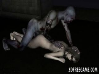 Yummy 3d cartoon zombie vixen obtener follada duro