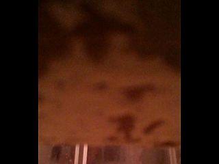 espiando a una chinita en la regadera
