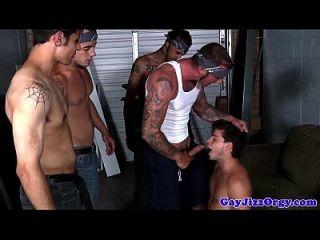 gaysex músculo hunk drench en jizz