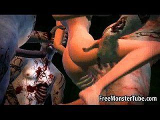 El bebé de la historieta 3d consigue la cuadrilla golpeada por algunos zombis