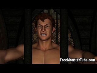 hot 3d redhead babe obtiene follada duro por un vampiro