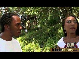 hot ebony chick amor gangbang interracial 11