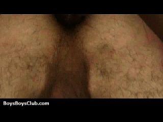 jóvenes blancos sexy chocaron profundamente en el culo por los hombres negros 04