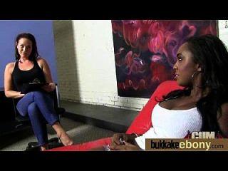 interracial bukkake sexo con la estrella del porno negro 9