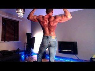 jeans musculosos apretados
