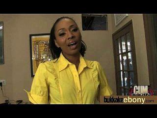 hot ebony chick love gangbang interracial 2