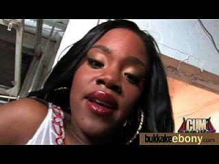 caliente ebony chick love gangbang interracial 22