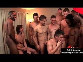 bukkake gay chicos desagradable a pelo negro cumshot partes 09