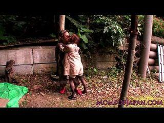maduras hitomi tanaka pounded al aire libre