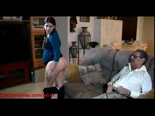 embarazada hija de nuevo en casa papá hace perrito mierda