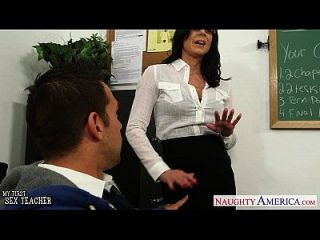brunette teacher kendra lust se facialized