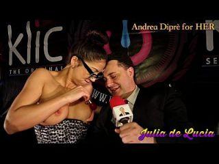 julia de lucia pone un lollipop en su vagina para andrea diprè