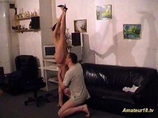 sexo de contorsión flexible extrema