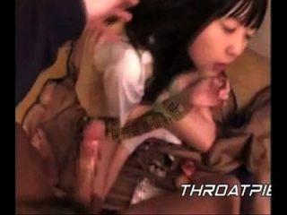 0018 colegiala japonesa se emborracha en su garganta