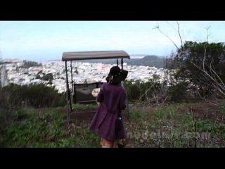 desnuda en san francisco: rosalind se masturba y juguetes en público