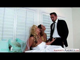 sexy babes jada stevens y phoenix marie compartir polla en la boda