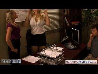 blondes kagney linn karter y shawna lenee follando en la oficina