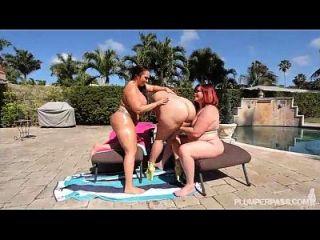 3 bbws grandes botín obtener jodido por la piscina