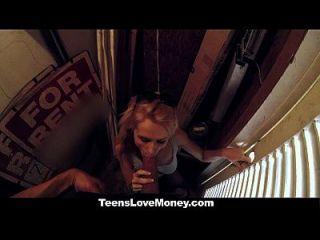 adolescente teenslovemoney se follan en público por dinero en efectivo