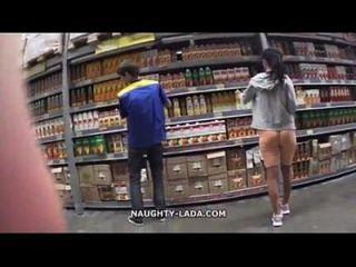 cameltoe y parpadeo en el supermercado myfaptime.com