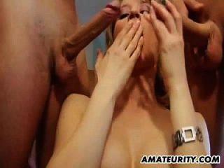 amateur adolescente novia anal con doble penetración y cum