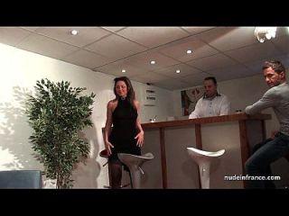 ffm culo maduro francés follada por su sofá de casting aficionado con una puta pelirroja